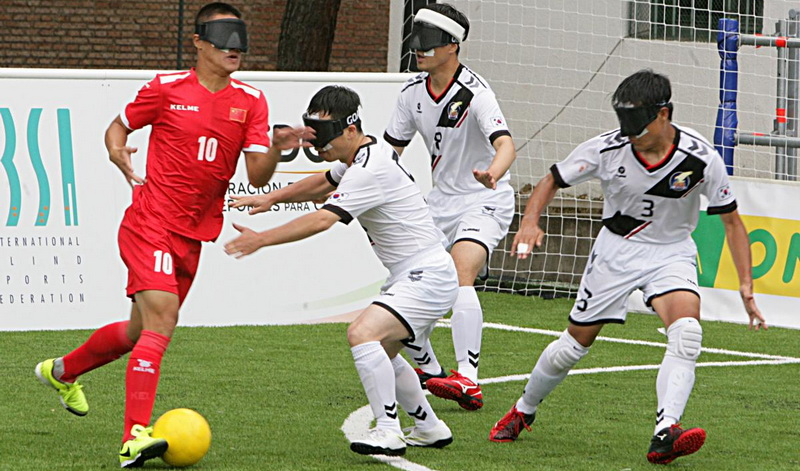 Different types of football - blind football