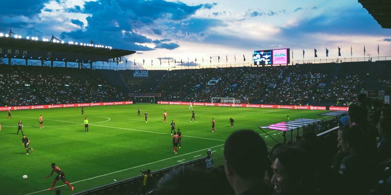 Large football field