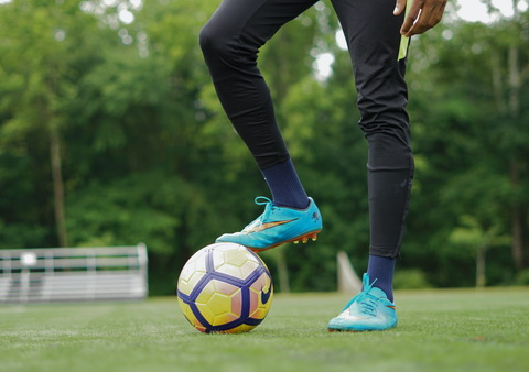 The ball is considered a foot