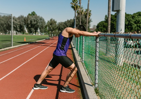 Stretching exercises when caught in a fence